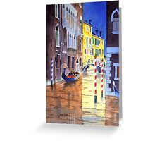 Reflections Of Venice Italy Greeting Card
