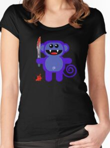 MUNKEY 2 (Cute pet with a sharp knife!) Women's Fitted Scoop T-Shirt