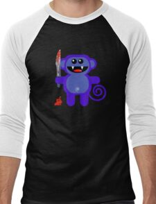 MUNKEY 2 (Cute pet with a sharp knife!) Men's Baseball ¾ T-Shirt