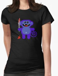 MUNKEY 2 (Cute pet with a sharp knife!) Womens Fitted T-Shirt