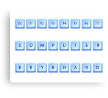 Computer keyboard Canvas Print