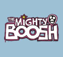 The Mighty Boosh – Dripping Pink Writing & Mask by PonchTheOwl