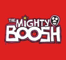 The Mighty Boosh – Dripping Pink Writing & Mask Baby Tee