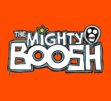 The Mighty Boosh – Dripping Blue Writing & Mask Kids Tee