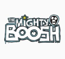The Mighty Boosh – Dripping Blue Writing & Mask Kids Clothes