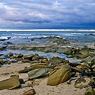 Approaching storm, Marengo , Apollo Bay, Victoria. by johnrf