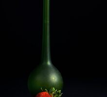 Strawberry and vase by Jeffrey  Sinnock