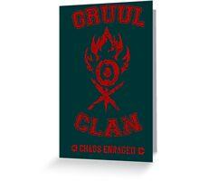 MTG - GRUUL CLAN Greeting Card