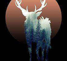 Forest Ravenstag 2 [Black Background] by tirmedesign