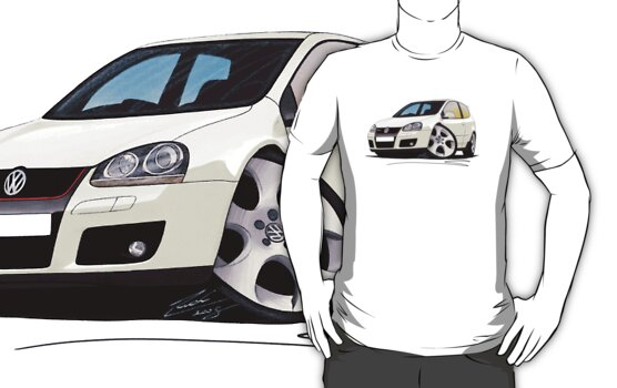 VW Golf GTi (Mk5) White by Richard Yeomans
