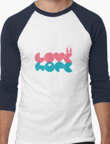 love, hope. Men's Baseball ¾ T-Shirt