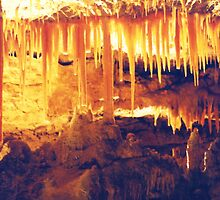 Stalactites at Naracoorte Caves by Michael John