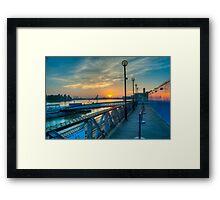 Sunrise at Greenwich Pier: River Thames Framed Print