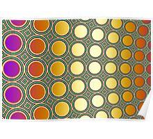 Bright Shiny Discs Poster