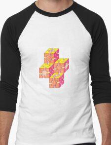 Sun blocks Oblique ersion Men's Baseball ¾ T-Shirt