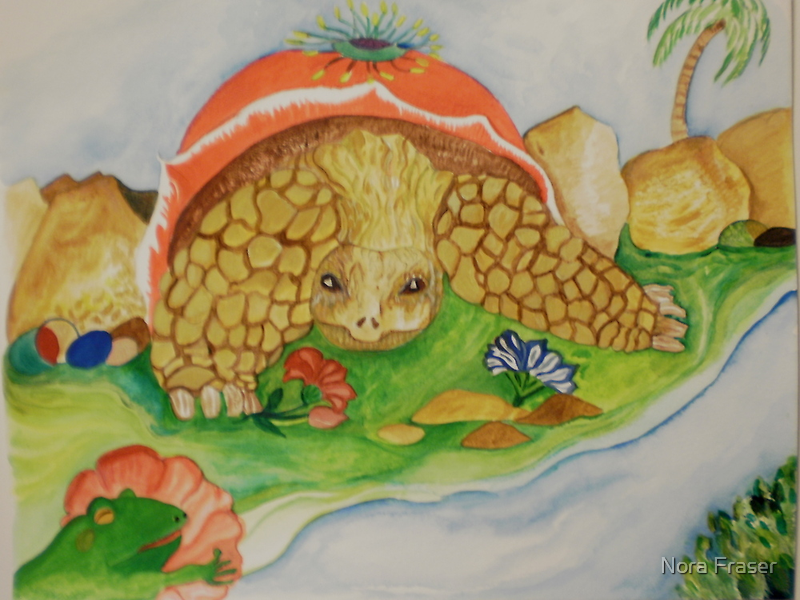 Galapogas tortoise series continued by Nora Fraser