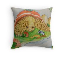 Galapogas tortoise series continued Throw Pillow