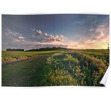 Sundown in Cambridgeshire Poster