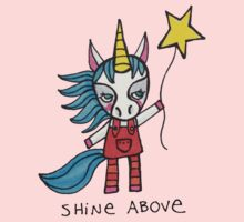 Shine Above: Unicorn Drawing Watercolor Illustration Kids Clothes