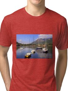 Boats on Lake Lecco  Tri-blend T-Shirt