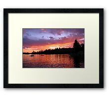 Sunset on Eagle Lake Framed Print