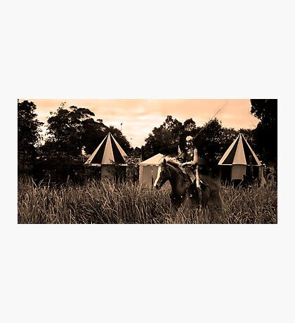 'Shining Knight'  - Gumeracha Medieval Fair  Photographic Print