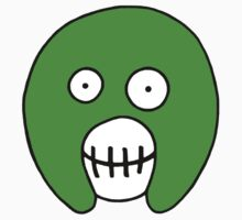The Mighty Boosh – Solid Green Mask by PonchTheOwl