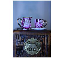 Tea and Roses Photographic Print