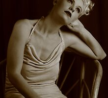 Nicky portraying Betty - finale - sepia by Glynn Jackson