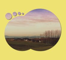 Beautiful panorama under a cloudy sky | landscape photography Baby Tee