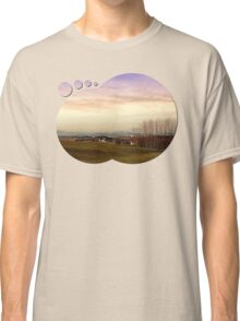 Beautiful panorama under a cloudy sky | landscape photography Classic T-Shirt