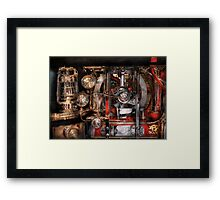 Steampunk - Check the gauges  Framed Print
