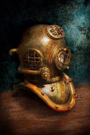 Steampunk - Diving - The diving helmet by Mike  Savad