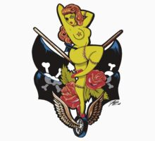 Zombie Pin-Up Girl Die-Cut Sticker by Joey Finz