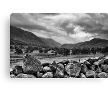 Misty mountain, the Lake District, Cumbria. Canvas Print
