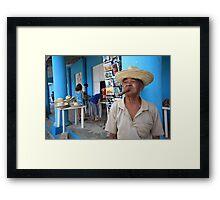 Cigar smoking Cuban - Viñales Framed Print