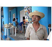 Cigar smoking Cuban - Viñales Poster