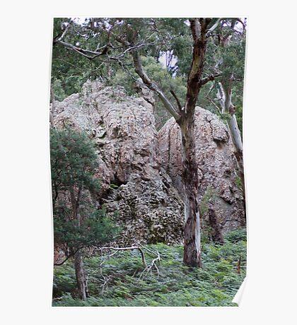 Hanging Rock, Macedon Ranges, Victoria Poster