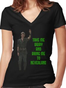 Peter Pan Women's Fitted V-Neck T-Shirt