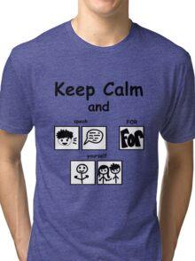 Keep calm SFY large Tri-blend T-Shirt