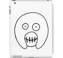 The Mighty Boosh – Hollow Black Outline Mask iPad Case/Skin