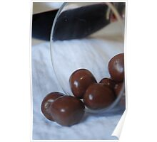 Fruit chocolates and wine  Poster