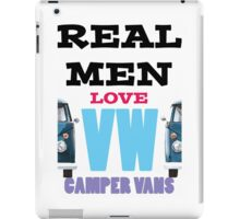 Real Men Love VW Camper Vans iPad Case/Skin