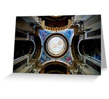 domed ceiling.. Greeting Card