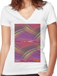 abstract background Women's Fitted V-Neck T-Shirt
