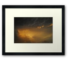 It comes to an end! Storm Clouds Framed Print