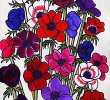 Anemone Bouquet by Susan Duffey