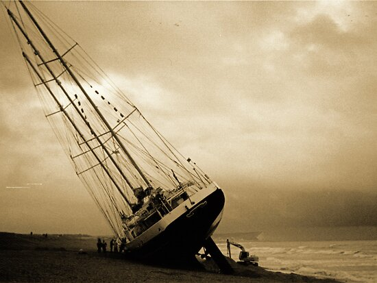 The Eendracht aground in Seaford Bay by mikebov