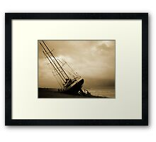 The Eendracht aground in Seaford Bay Framed Print
