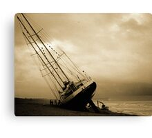 The Eendracht aground in Seaford Bay Canvas Print